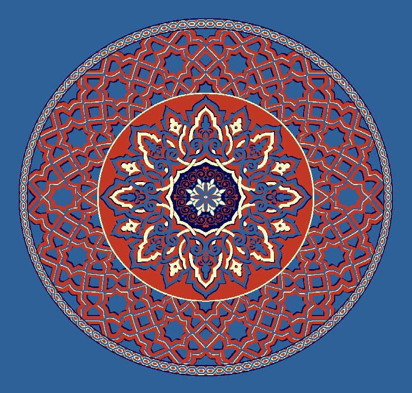 ZENTRIERMUSTER MODELL 3010 - Blau
