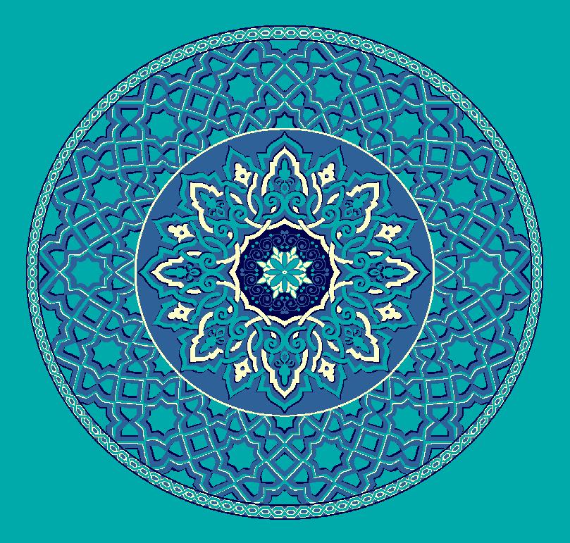 ZENTRIERMUSTER MODELL 3010 - Türkis Blau