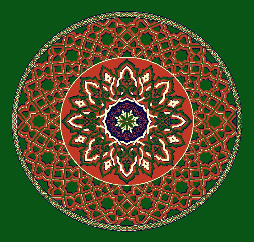ZENTRIERMUSTER MODELL 3010 - Grün