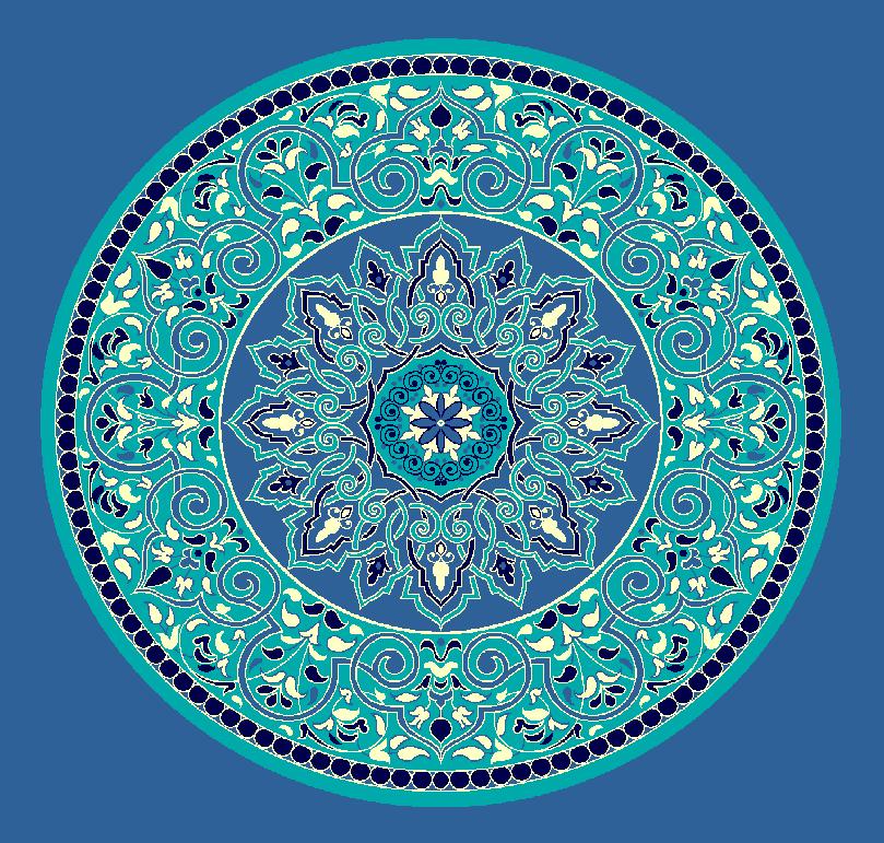 ZENTRIERMUSTER MODELL 3020 - Blau