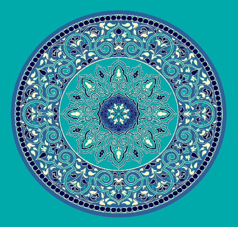 ZENTRIERMUSTER MODELL 3020 - Türkis Blau