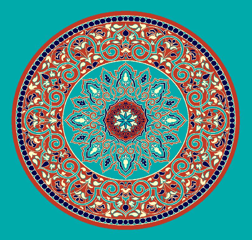ZENTRIERMUSTER MODELL 3020 - Türkis