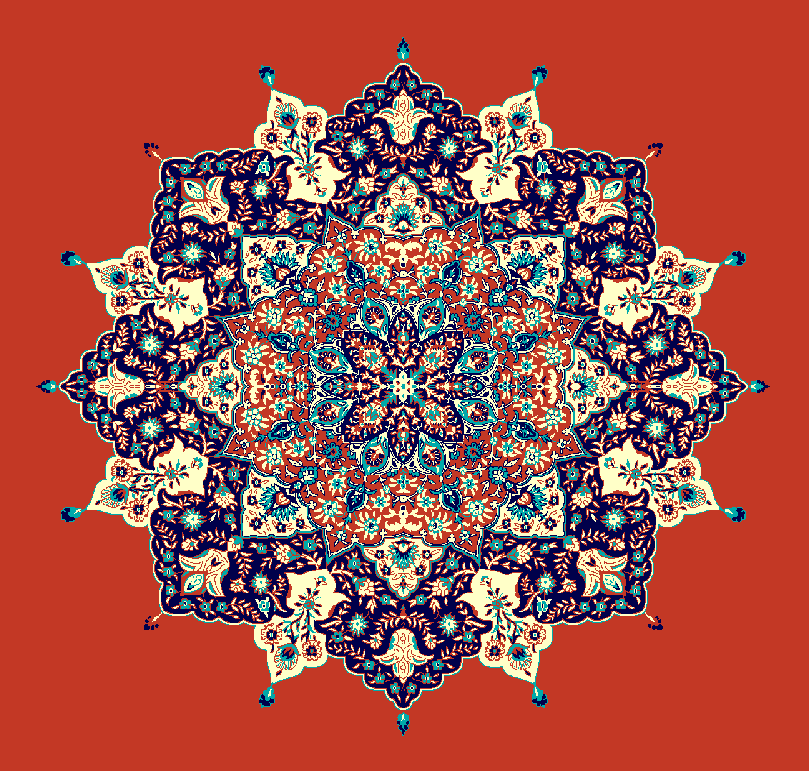 ZENTRIERMUSTER MODELL 3030 - Ziegelrot