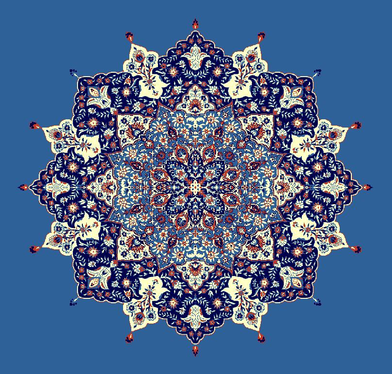 ZENTRIERMUSTER MODELL 3030 - Blau