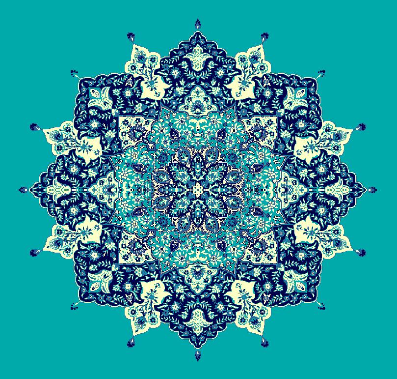 ZENTRIERMUSTER MODELL 3030 - Türkis Blau