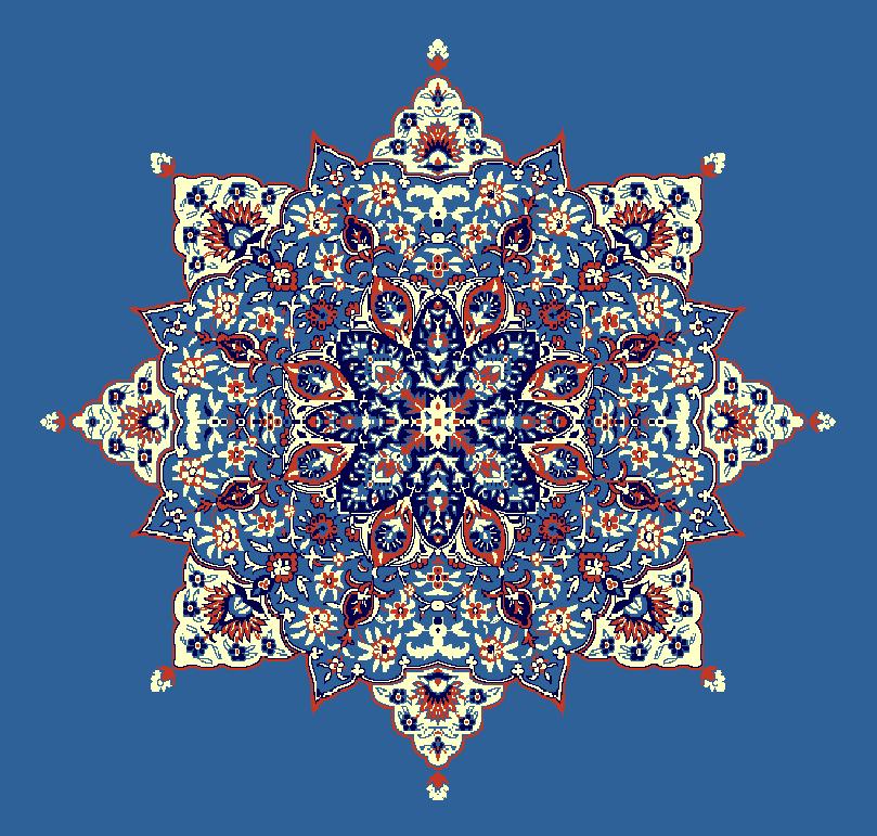 ZENTRIERMUSTER MODELL 3040 - Blau