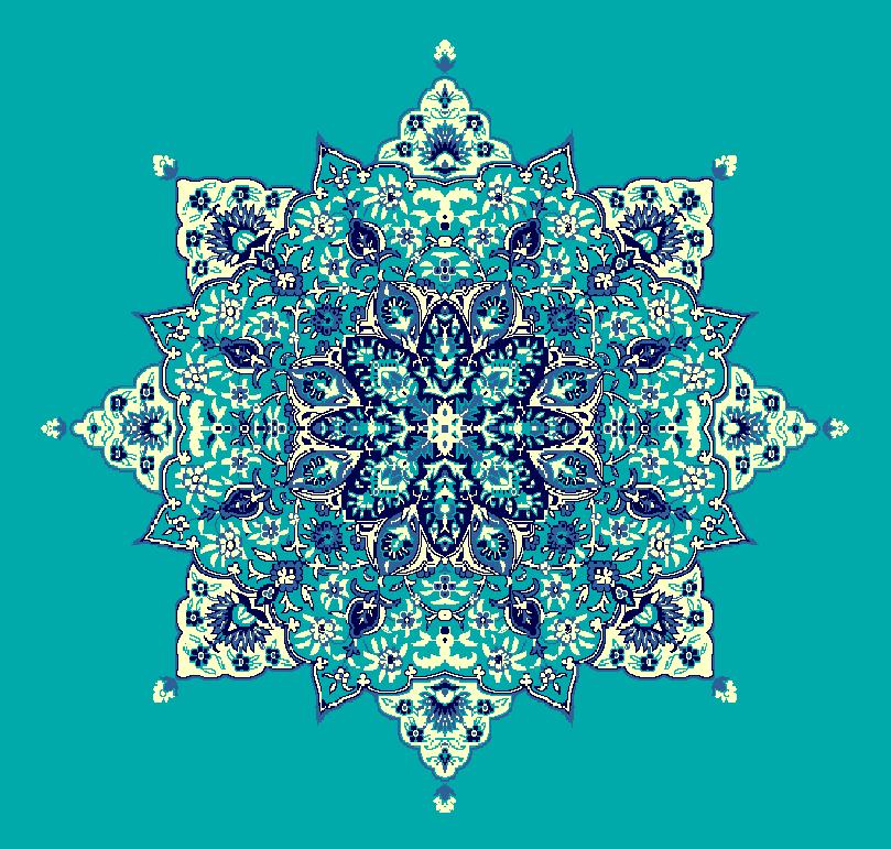 ZENTRIERMUSTER MODELL 3040 - Türkis Blau