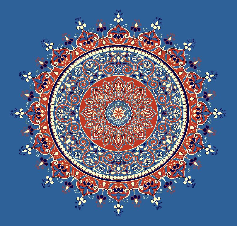 ZENTRIERMUSTER MODELL 3050 - Blau