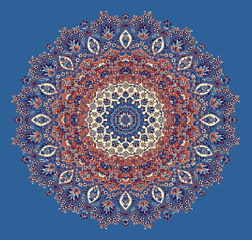 ZENTRIERMUSTER MODELL 3060 - Blau