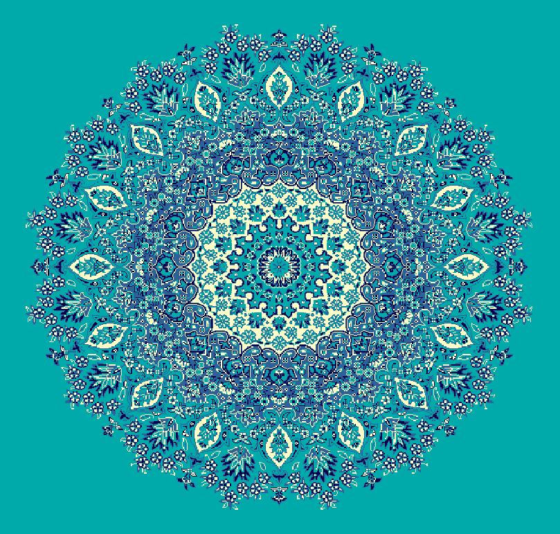 ZENTRIERMUSTER MODELL 3060 - Türkis Blau