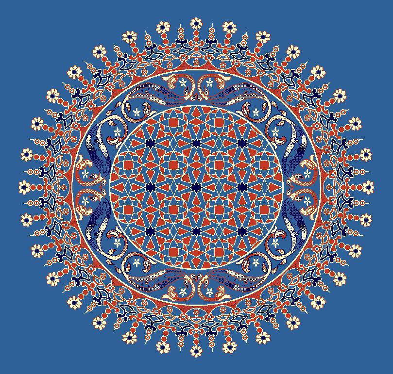 ZENTRIERMUSTER MODELL 3080 - Blau