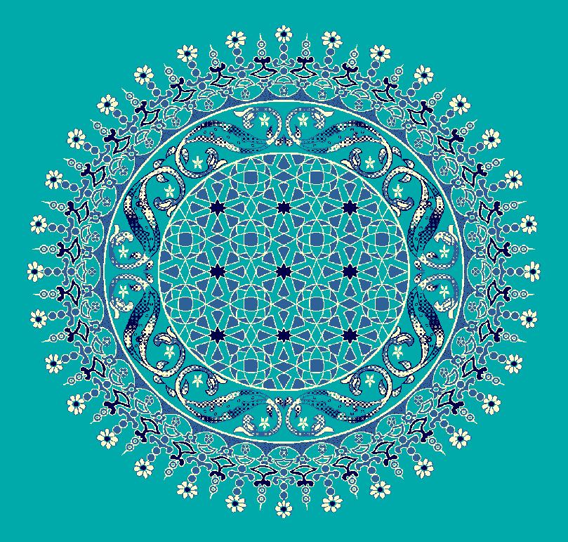 ZENTRIERMUSTER MODELL 3080 - Türkis Blau