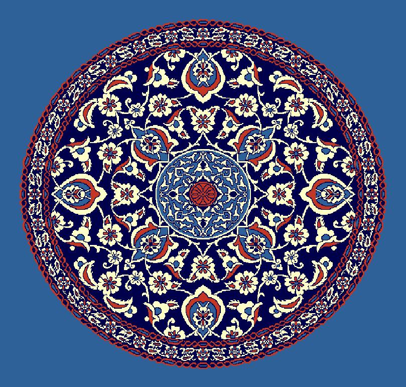 ZENTRIERMUSTER MODELL 3090 - Blau