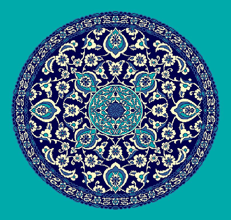 ZENTRIERMUSTER MODELL 3090 - Türkis Blau