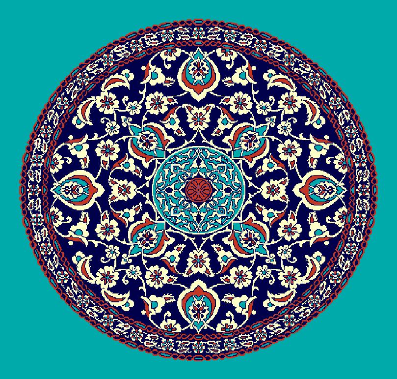 ZENTRIERMUSTER MODELL 3090 - Türkis