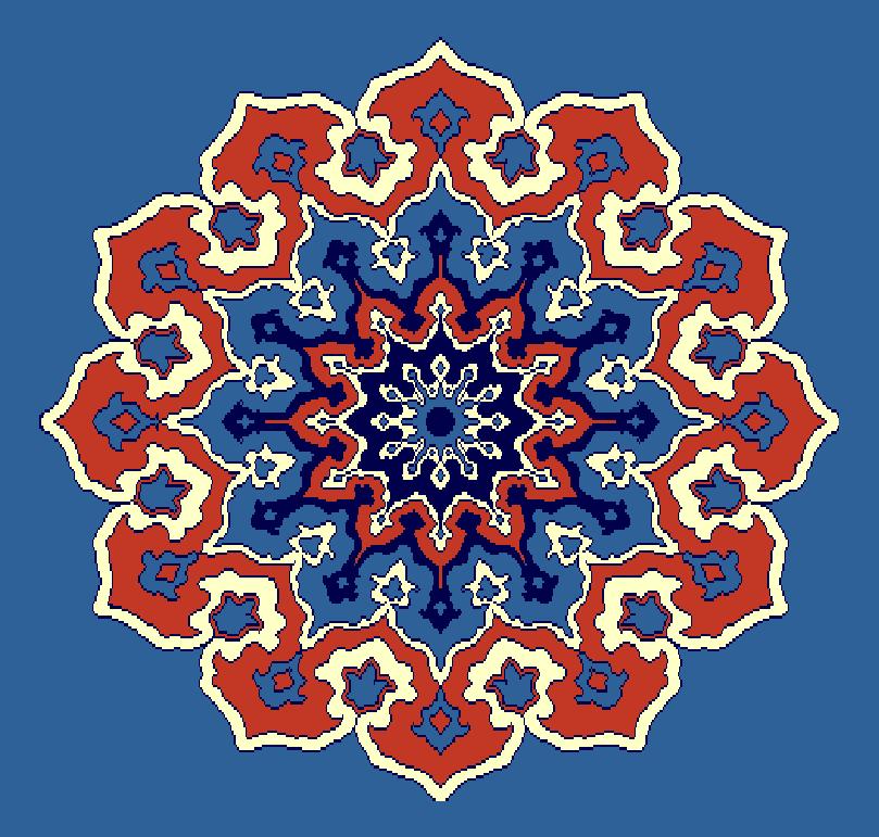 ZENTRIERMUSTER MODELL 3100 - Blau