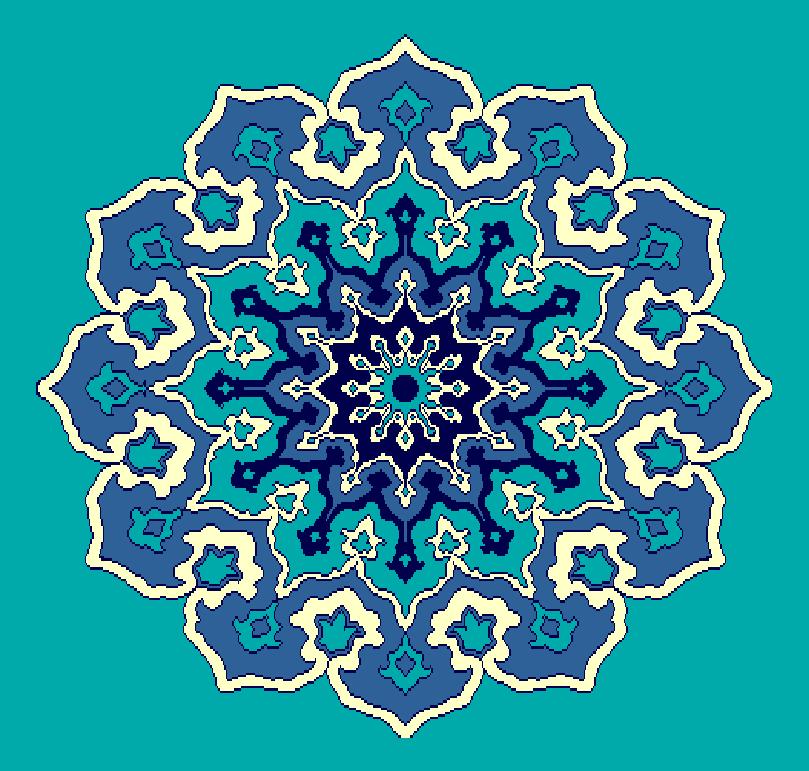 ZENTRIERMUSTER MODELL 3100 - Türkis Blau