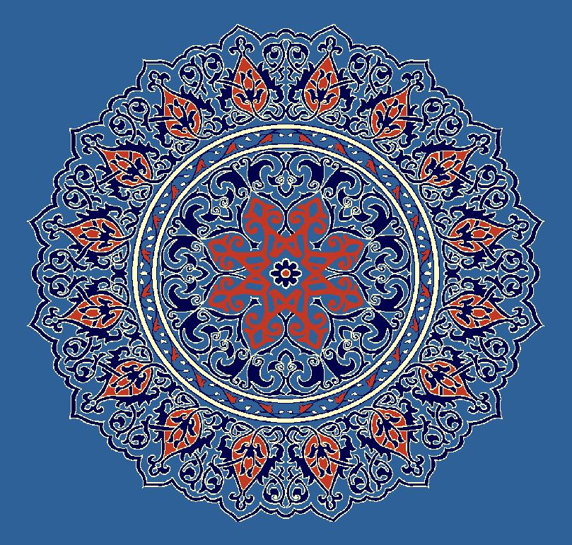 ZENTRIERMUSTER MODELL 3110 - Blau