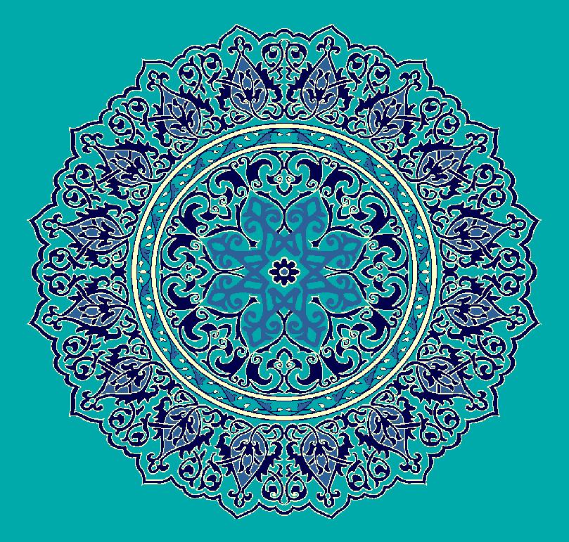 ZENTRIERMUSTER MODELL 3110 - Türkis Blau