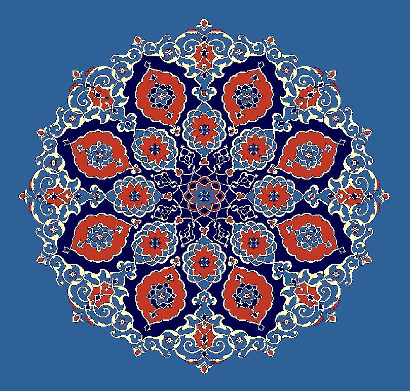 ZENTRIERMUSTER MODELL 3120 - Blau