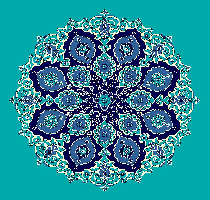 ZENTRIERMUSTER MODELL 3120 - Türkis Blau