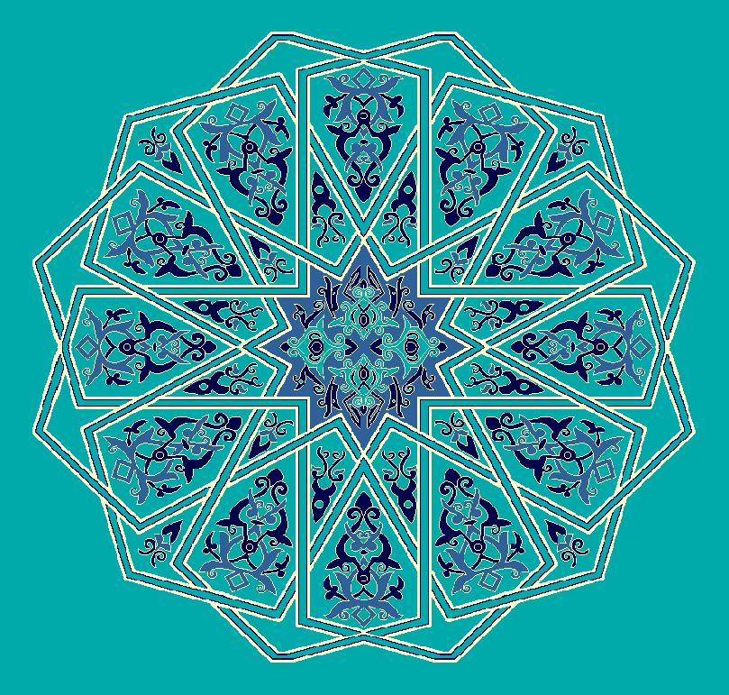 ZENTRIERMUSTER MODELL 3130 - Türkis Blau