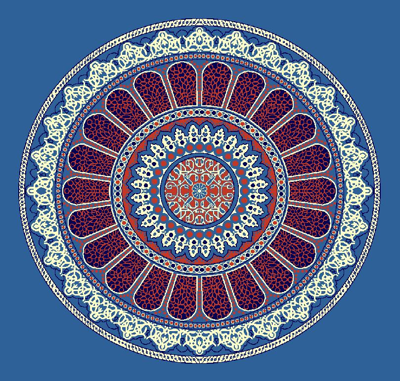 ZENTRIERMUSTER MODELL 3160 - Blau