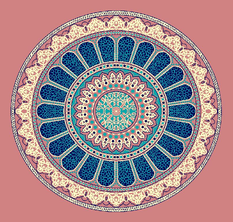 ZENTRIERMUSTER MODELL 3160 - Ziegelrot