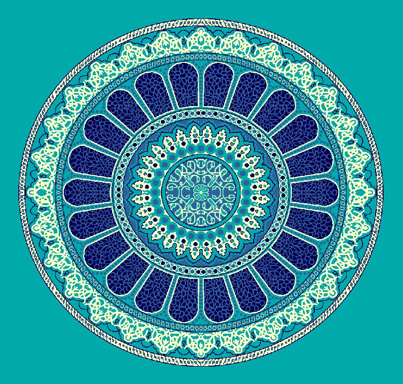 ZENTRIERMUSTER MODELL 3160 - Türkis Blau